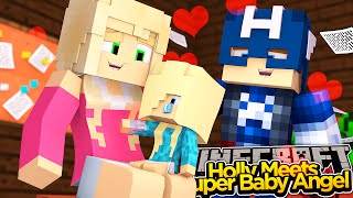 Minecraft Date Night - HOLLY MEETS BABY ANGEL!!!