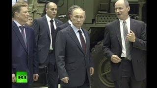 Путин лично проинспектировал производство ракетных комплексов на  Обуховском заводе