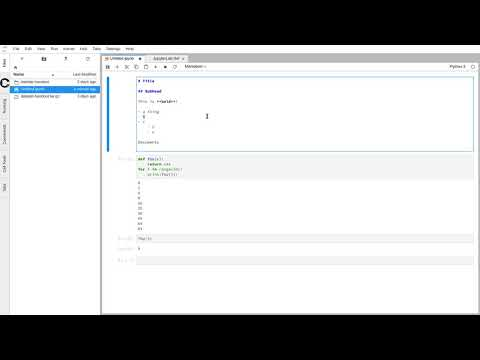 A video overview of Jupyter hub.