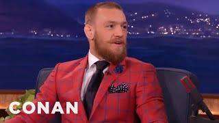 Conor McGregor Taunts Nate Diaz: He's A Fat-Skinny Guy  - CONAN on TBS