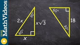 Determine The Missing Short Leg And Hypotenuse Of A 30 60 90 Triangle