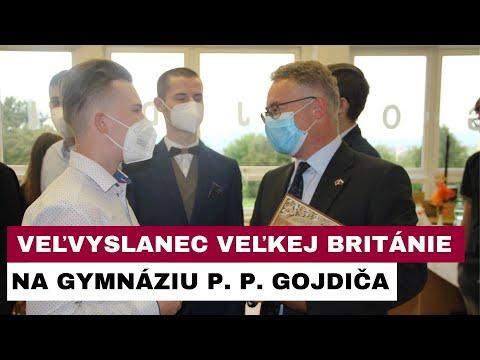 Veľvyslanec Veľkej Británie na Slovensku navštívil študentov Spojenej školy bl. biskupa Gojdiča