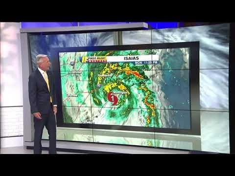 Hurricane Isaias makes NC landfall at Ocean Isle Beach with 85 mph winds