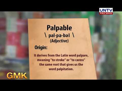 Palpable   Word for the Day - UNTV News and Rescue   UNTV