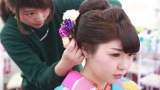 日本髪風ヘアセット - Traditional Japanese hair style