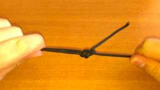 Как соединить концы шнурка на нательном крестике