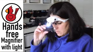 HANDS FREE MAGNIFIER WITH LIGHT Video #196