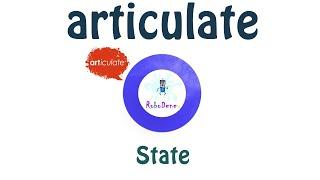 Articulate state kullanımı (Türkçe anlatım)