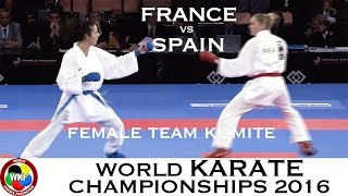 FINAL. FRANCE vs SPAIN. (2/2) Female Team Kumite. 2016 World Karate Championships