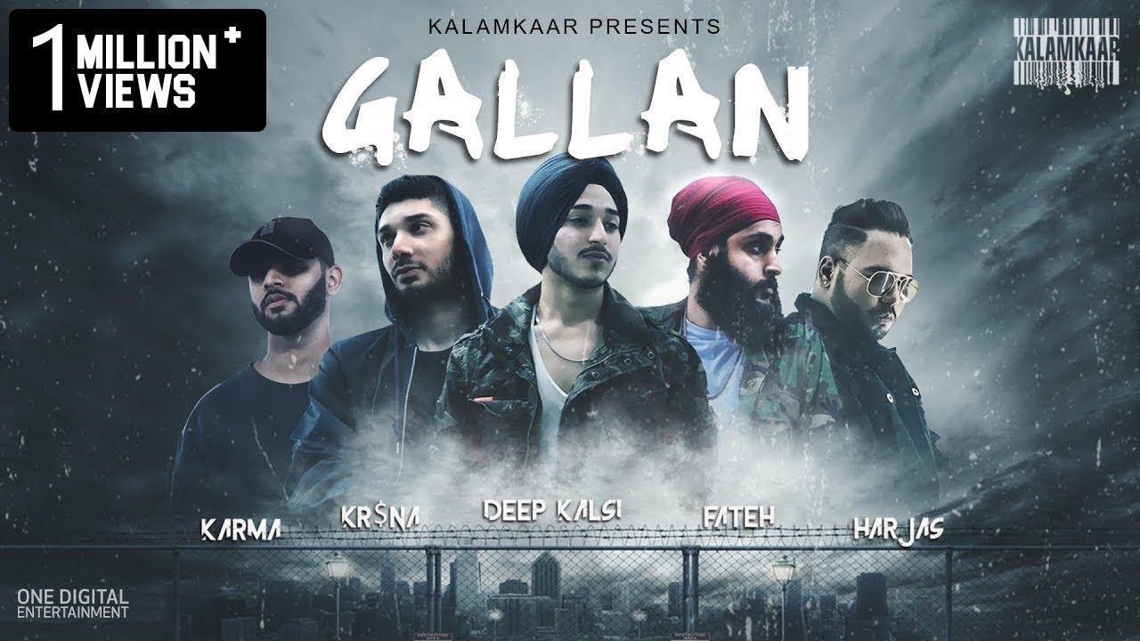 GALLAN Lyrics - DEEP KALSI, FATEH, KR$NA, HARJAS & KARMA