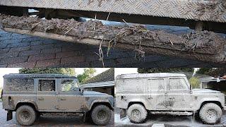 Embalmed in Thick MUD | Land Rover Defender Kingsmen | Extreme Dirt Detailing
