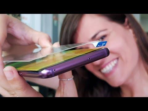 PROTECTOR PANTALLAS DEL FUTURO!! Curvo y de Cristal Galaxy S9