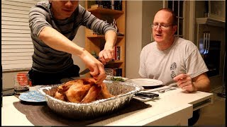 Gay Việt Chồng Mỹ Nướng Gà Tây Ăn Lễ Thanksgiving| Long Tran USA