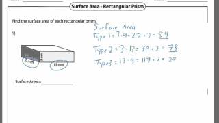 Surface area and Volume of a Rectangular Prism