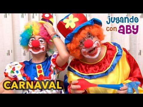 Especial Carnaval. Nos vestimos de PAYASO y nos pintamos la cara