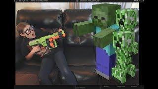 Nerf Minecraft Zombie Attack