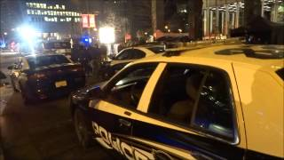 filming of TV Series Arrow in financial district Vancouver BC Canada