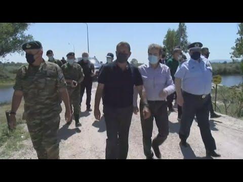 Επίσκεψη του υπουργού ΠροΠο Μιχάλη Χρυσοχοΐδη και Άμυνας Νίκου Παναγιωτόπουλου στον Έβρο