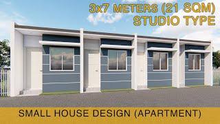 Small House Design Idea - Apartment (3x7 Meters) 21sqm - Studio Type