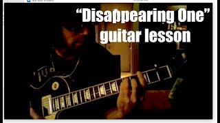 DISAPPEARING ONE by Chris Cornell - Guitar Lesson