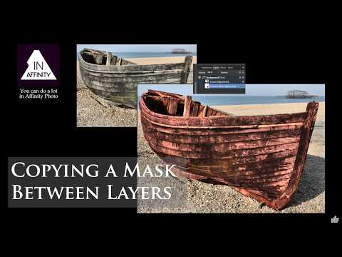 Copying a Mask Between Layers in Affinity Photo