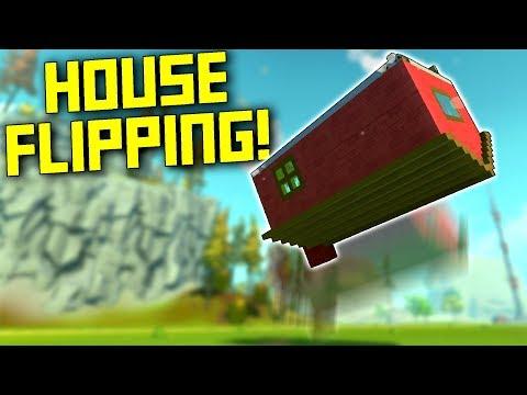 I Took House Flipping A Bit Too Literally... - Scrap Mechanic Gameplay