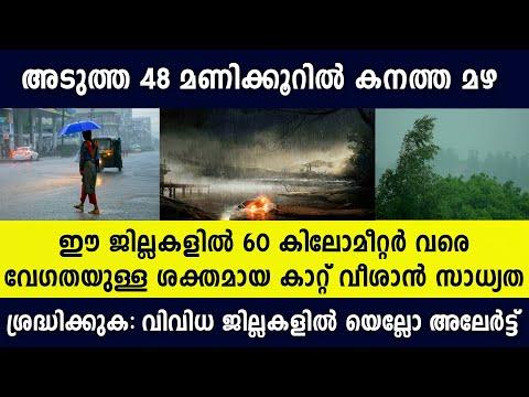Kerala Weather - കനത്ത മഴ വരുന്നു | Kerala Weather Today | kerala weather news today malayalam live
