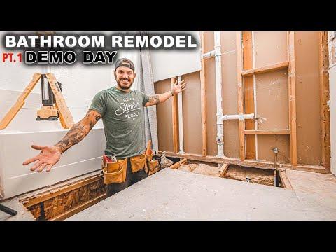 Bathroom Remodel Pt.1 Demo Day