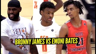 Bronny James & Emoni Bates GO AT IT w/ LeBron Watching!! Most HYPED Game of EYBL