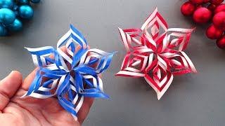 Weihnachtsdeko selber machen: Sterne basteln für Weihnachten mit Papier ⭐ Schneeflocken