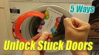 Five Ways to Unlock / Open Stuck Washing Machine Door