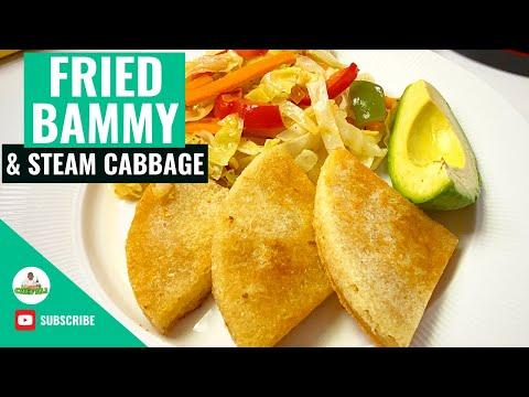 , title : 'Jamaican Fried Bammy (Cassava) Recipe | Steam Cabbage Recipe | Fried Bammy | Plant-Based Recipe
