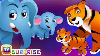 Surprise Eggs Wildlife Toys | Learn Baby Wild Animals & Animal Sounds | ChuChu TV Surprise for Kids