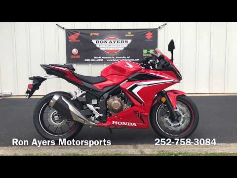 2019 Honda CBR500R ABS in Greenville, North Carolina - Video 1