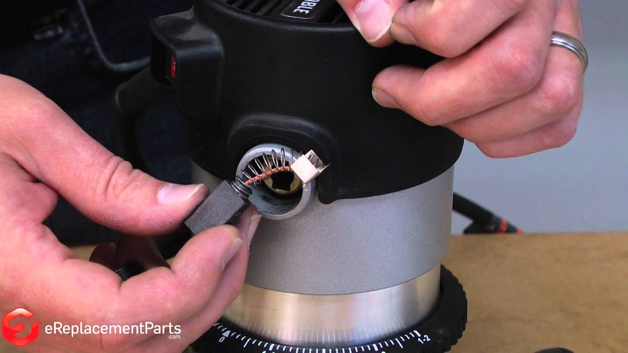 Replacing your Porter Cable Router Carbon Brush