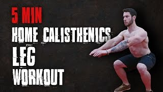 5 MINUTE HOME LEG WORKOUT | CALISTHENICS WORKOUT by TA Calisthenics