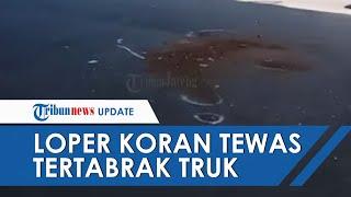 Seorang Loper Koran di Semarang Tewas Tertabrak Truk yang Sedang Putar Arah