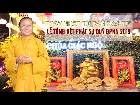 Thầy Nhật Từ ban đạo từ trong lễ tổng kết Phật sự quỹ ĐPNN 2019