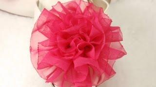 DIY Tutorial How to make Easy Fabric Flower Rose, DIY, Variant #1