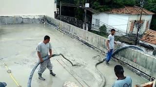 Obra Santa Teresa - Concreto bombeado