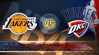 Los Angeles Lakers Vs. Oklahoma City Thunder LIVE STREAM Reaction