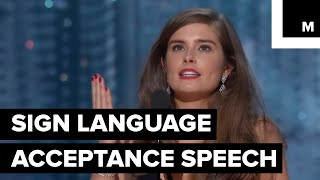 Learn Sign Language like Rachel Shenton on the Oscars