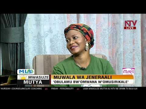 Mwasuze Mutya: Muwala wa Jenerali anyumya obulamu bwe