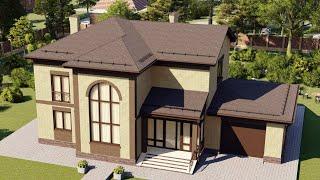 Проект дома 206-A, Площадь дома: 206 м2, Размер дома:  11,4x8,5 м