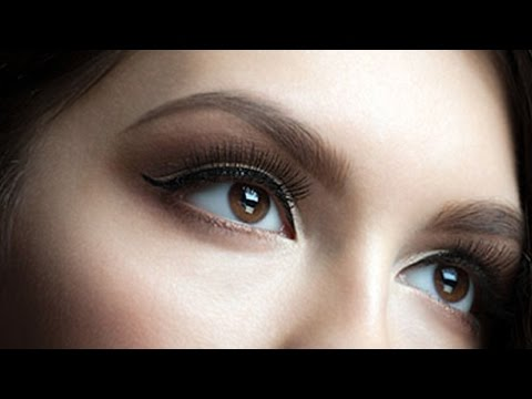 Татуаж глаз стрелки с растушевкой. Перманентный макияж век