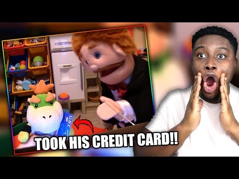 JUNIOR GETS UNLIMITED V BUCKS! | SML Movie: Mr. Goodman's Credit Card Reaction!