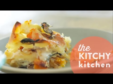 Roasted Vegetable Vegetarian Lasagna // Living Deliciously