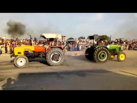 HMT 5911 & john deere Tractor Tochan competition in Kamana