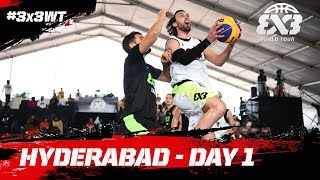 LIVE 🔴 - FIBA 3x3 World Tour 2018 - Hyderabad Masters | Day One