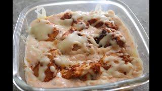 Cheezy Chicken Tikka Recipe | Cheesy Chicken Tikka Dip In White Sauce
